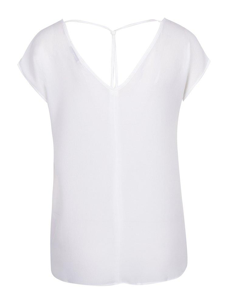 Tricou alb cu bretele decorative ONLY Myrina
