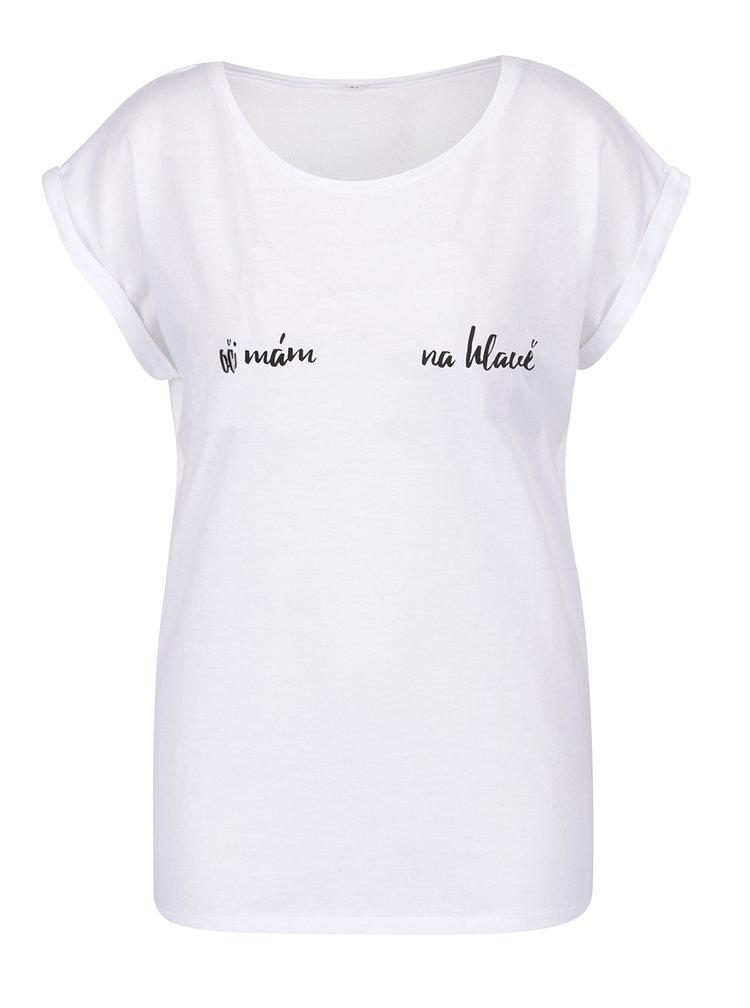 Bílé dámské volné tričko ZOOT Originál Oči mám na hlavě