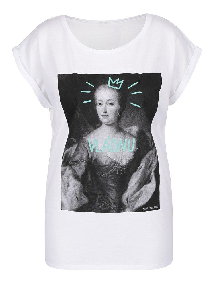 Bílé dámské volné tričko ZOOT Originál Vládnu