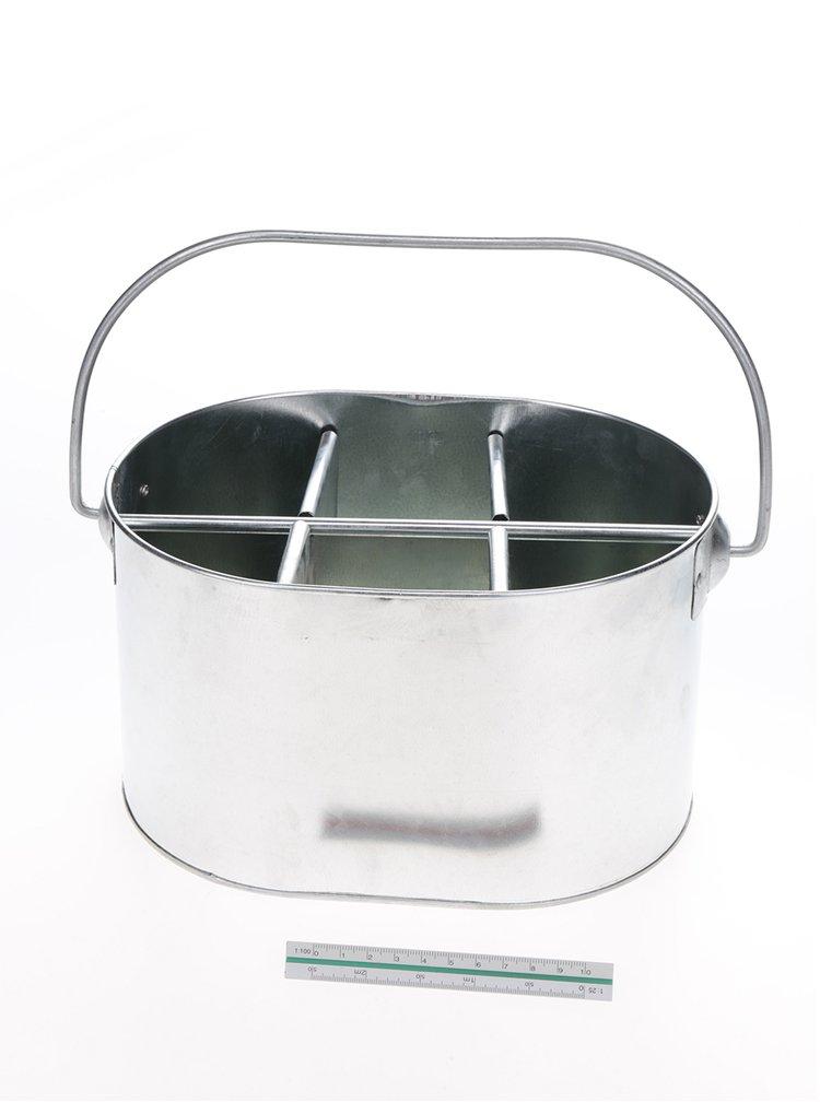 Stojan na lahve ve stříbrné barvě CGB