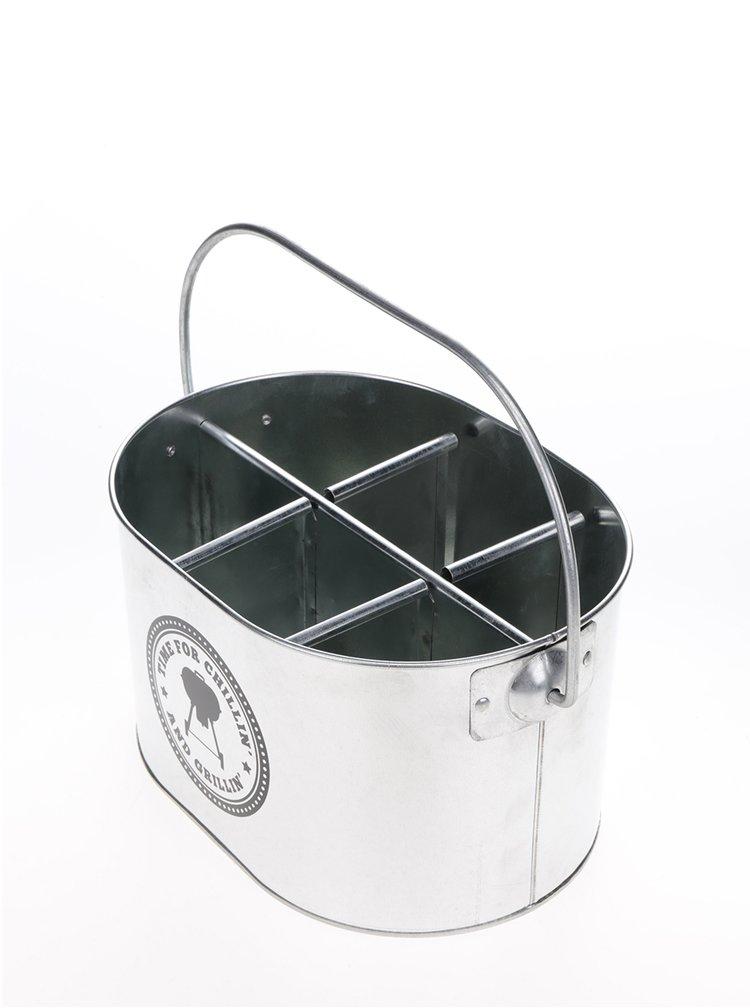 Galeata suport argintie pentru sticle CGB