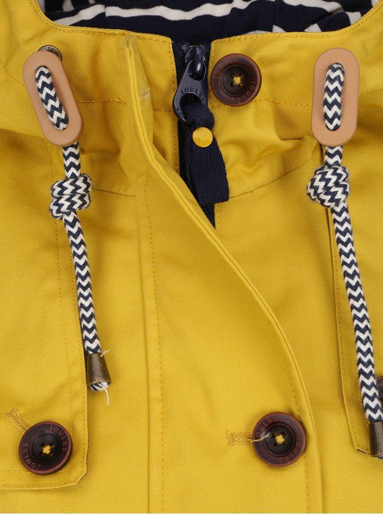 Žltá dámska nepremokavá bunda Tom Joule