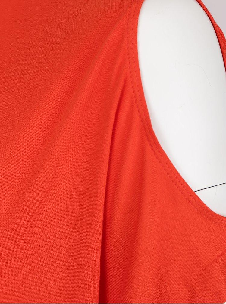 Červené maxišaty s průstřihy na ramenou Dorothy Perkins Curve