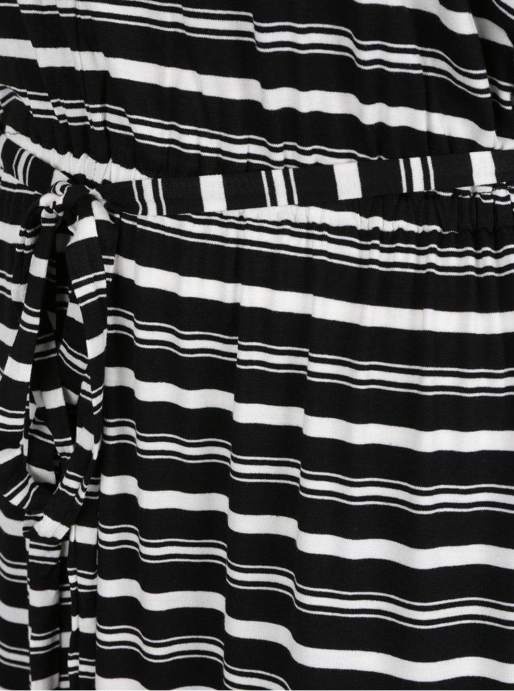 Rochie maxi neagră cu dungi Dorothy Perkins Curve