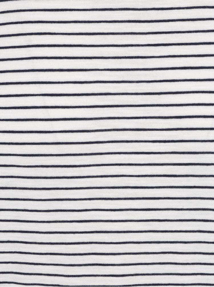 Modro-krémové pruhované triko Burton Menswear London