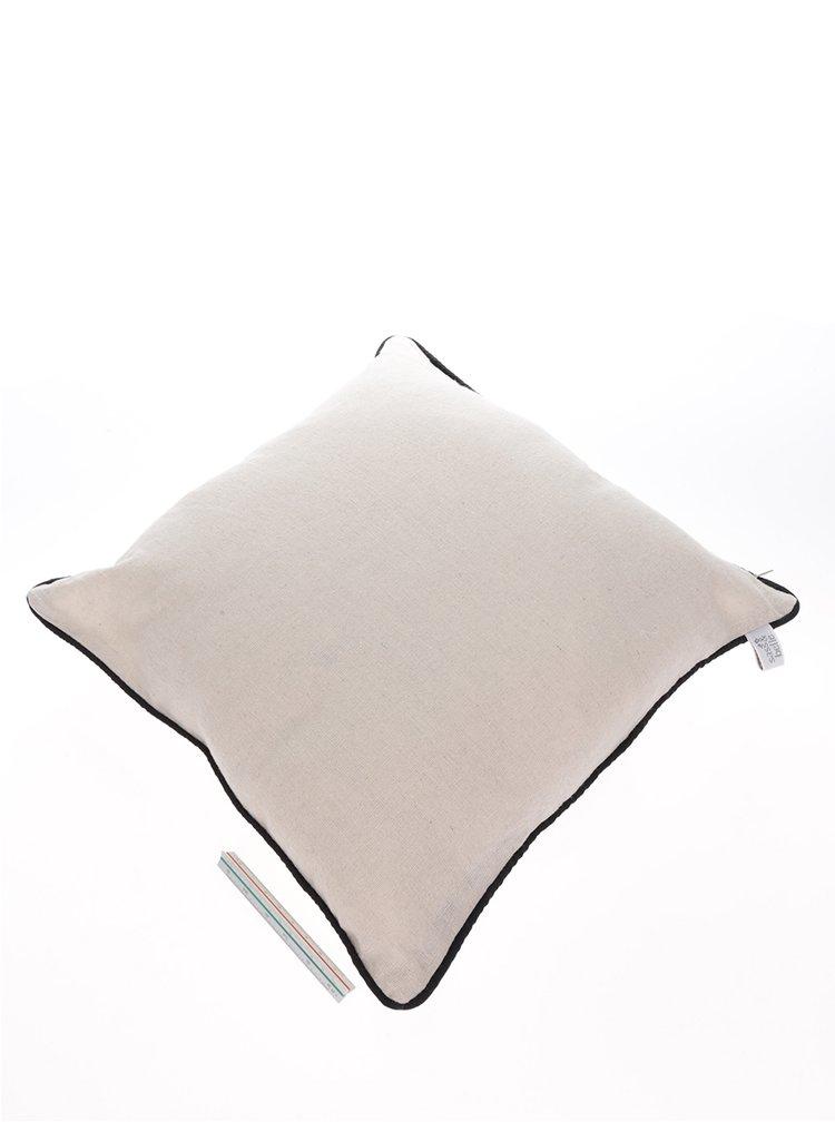 Krémový polštář s potiskem mušle Sass & Belle Vintage Sea
