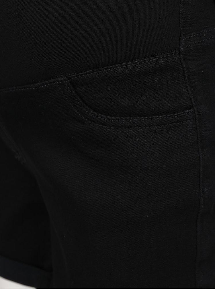 Pantaloni scurți negri din denim pentru gravide Dorothy Perkins Maternity