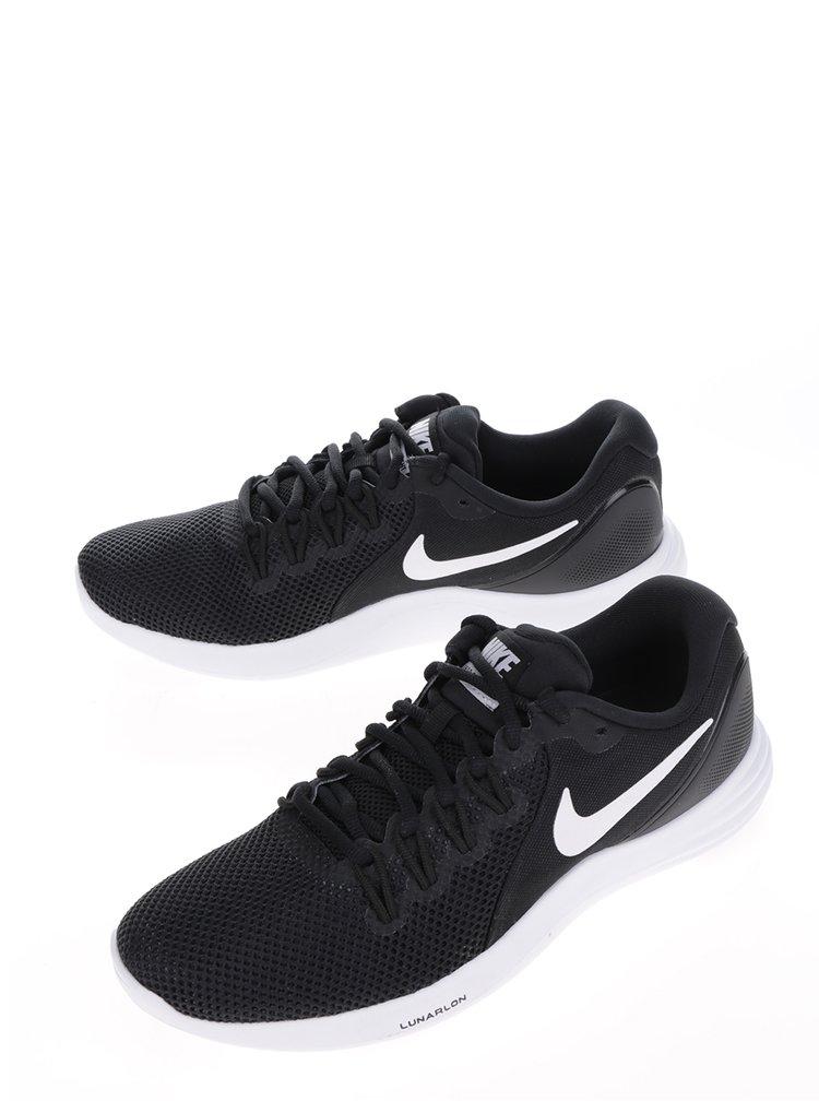 Bílo-černé pánské perforované tenisky Nike Lunar Apparent