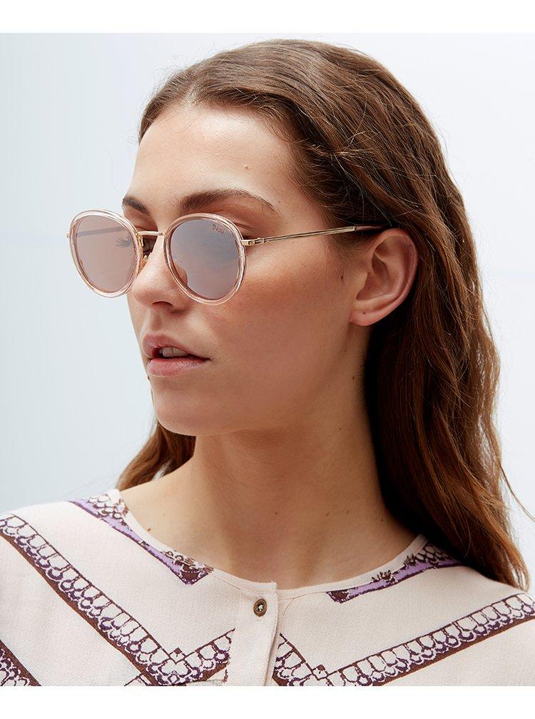 Ochelari de soare roz cu detalii aurii pentru femei Nalí