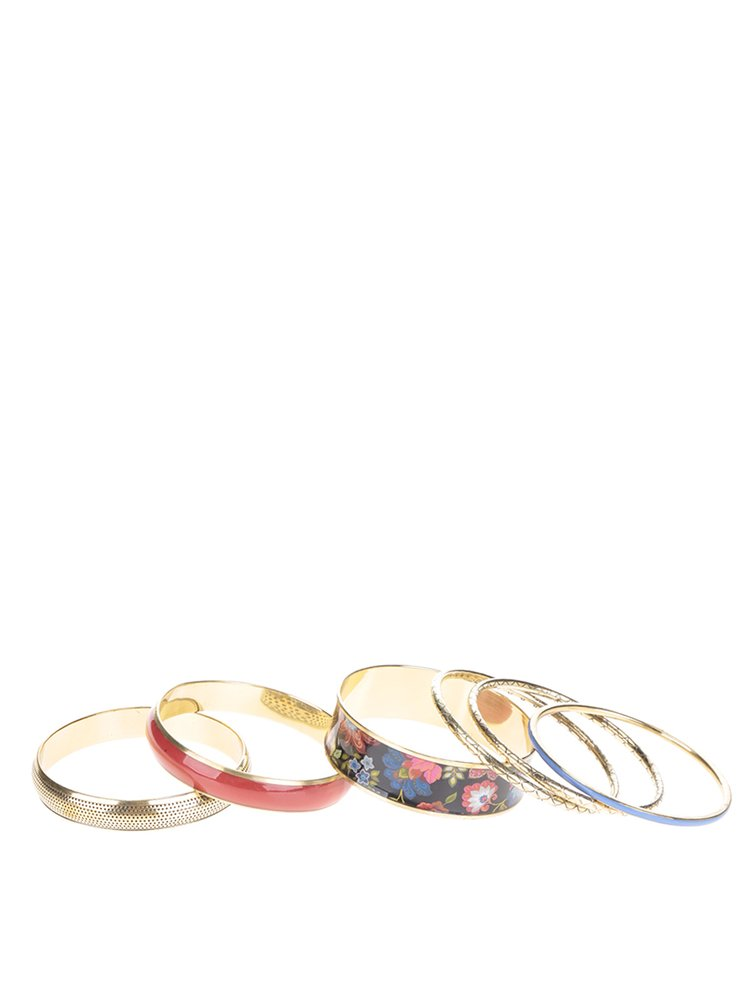 Set de 6 brățări fixe multicolore Desigual Caribou