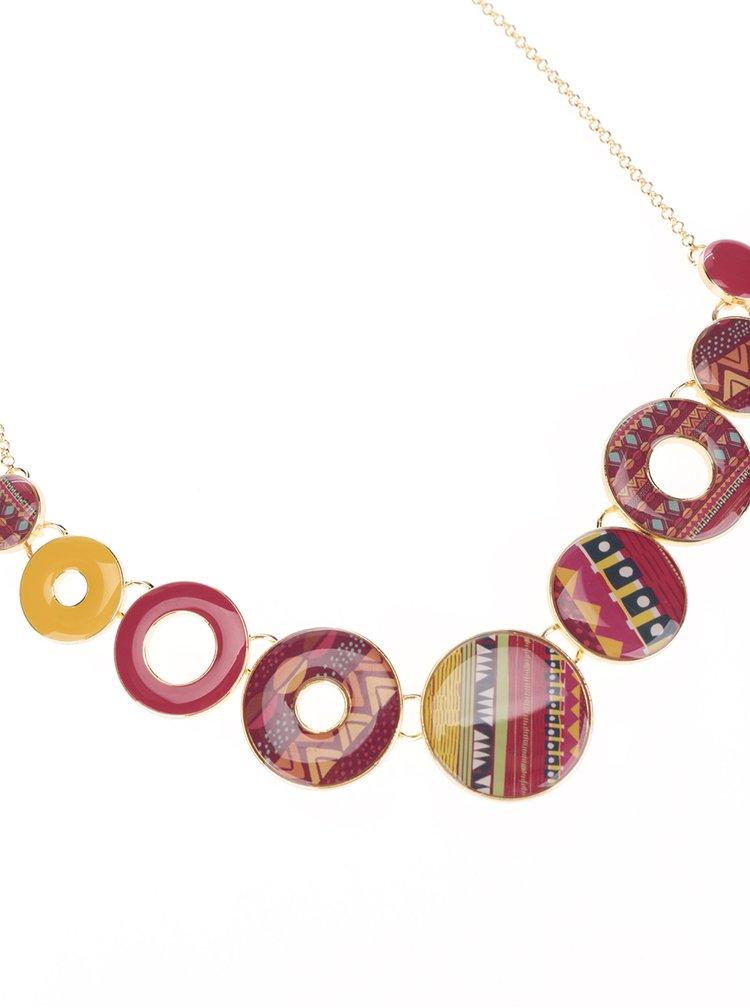 Oranžovo-červený náhrdelník Desigual Mia Circle