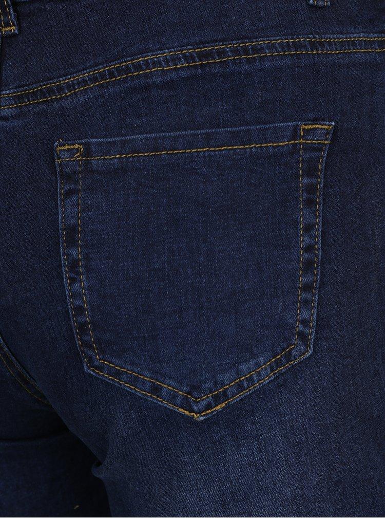 Tmavě modré džínové těhotenské kraťasy Dorothy Perkins Maternity