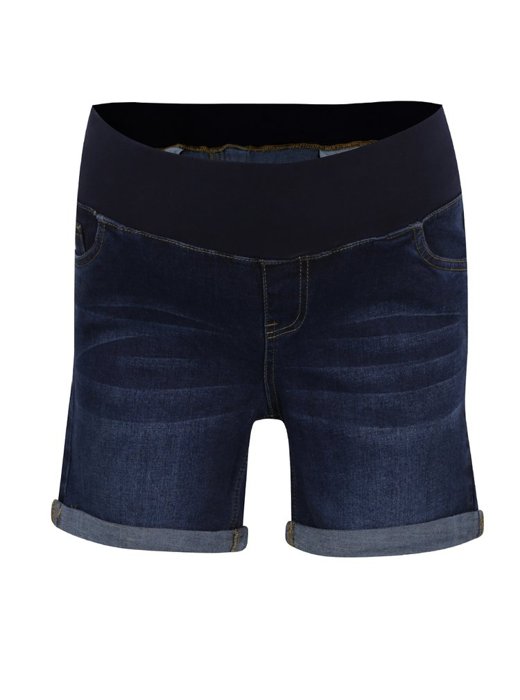 Pantaloni scurti albastri din denim Dorothy Perkins Maternity