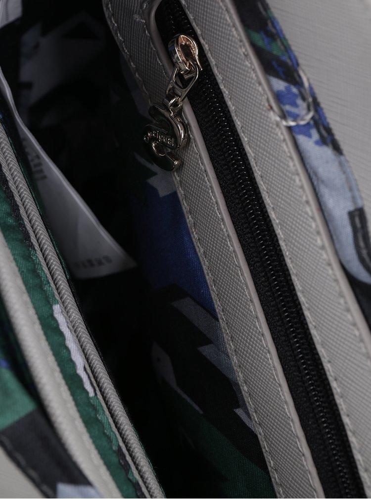 Modro-šedá crossbody kabelka s vyměnitelnou klopou Desigual Cracovia Tricolor