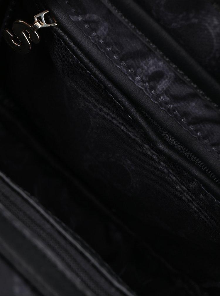Černá vzorovaná crossbody kabelka Desigual Charlotte Snake Patch