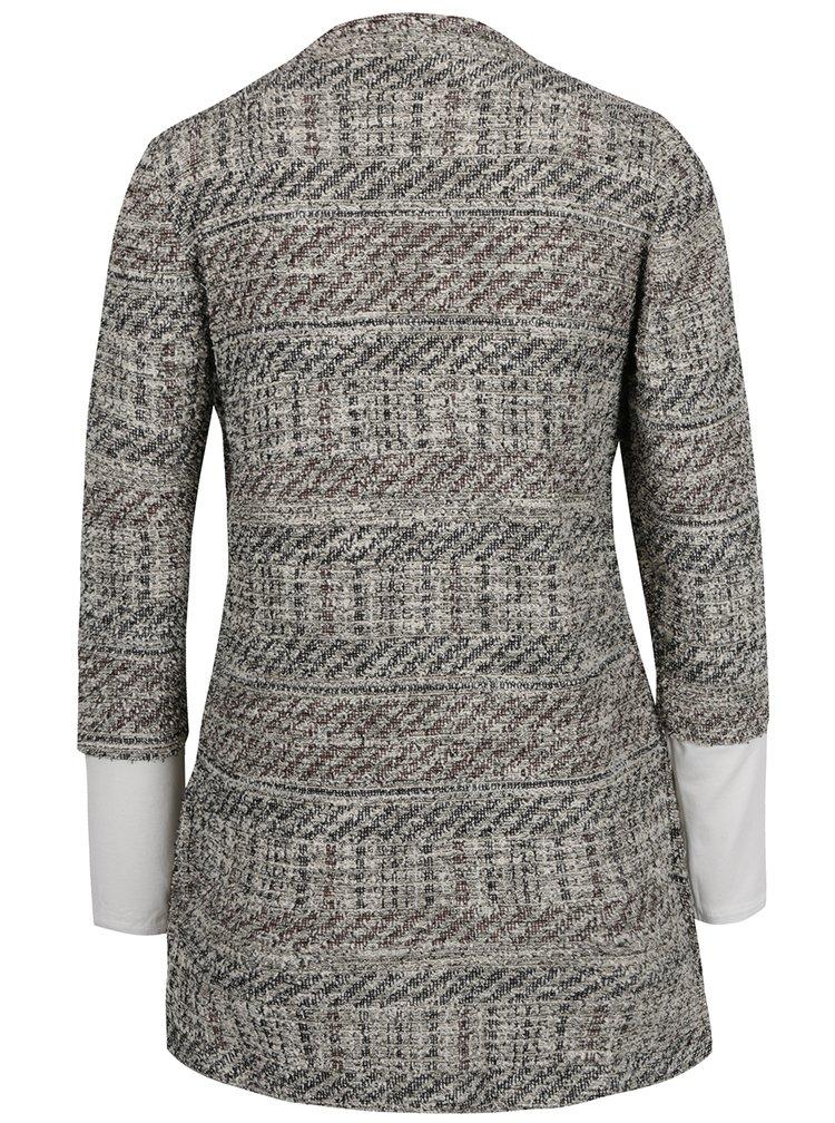 Krémovo-šedý kardigan s všitým tričkem Desigual Patricia