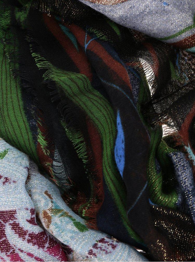 Eșarfă multicoloră Desigual Sweet Forest