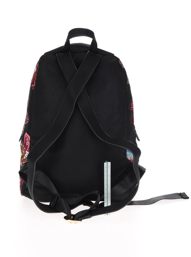 Černý batoh s výšivkou Desigual Lima Caribou