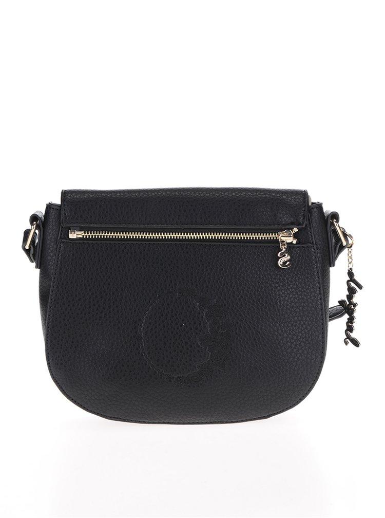 Krémovo-černá crossbody kabelka s vyměnitelnou klopou Desigual Cracovia Alice