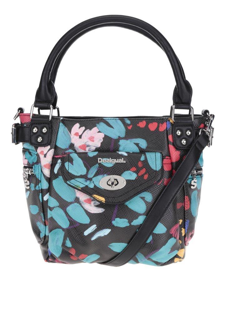 Černá květované kabelka Desigual McBee Mini Misha