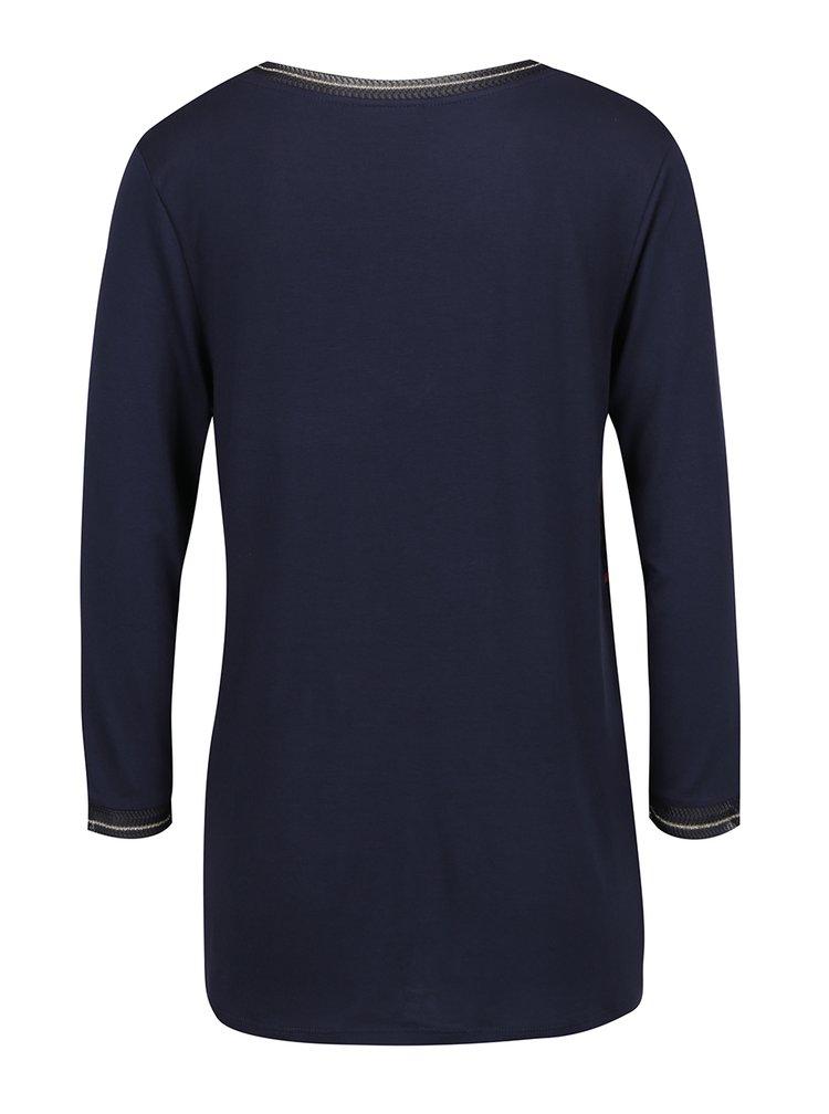 Bluză neagră Desigual cu ștrasuri