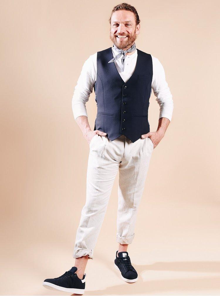 Světle šedé kalhoty Bertoni Schack