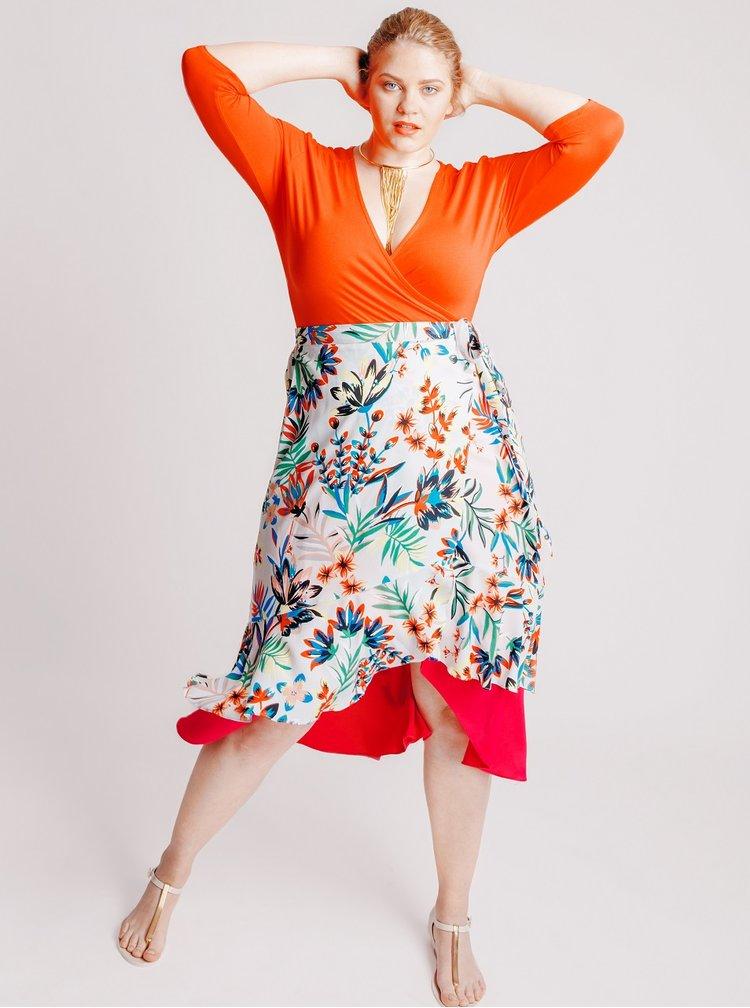 Rochie rosie Dorothy Perkins Petite cu decolteu in V