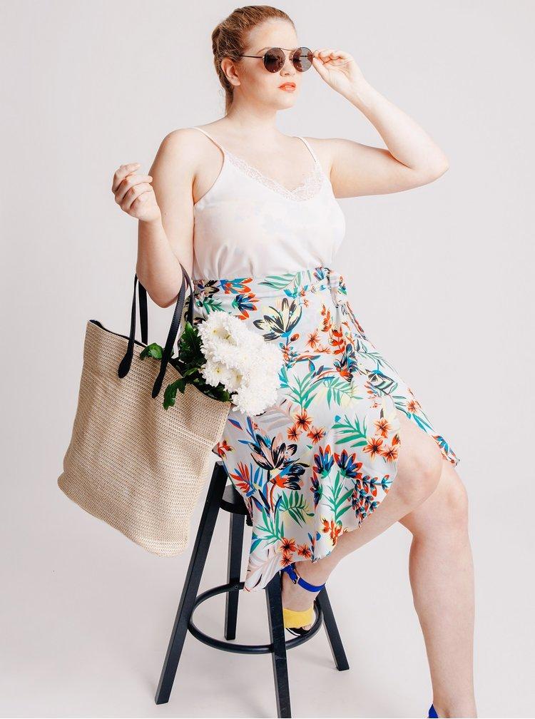 Bustier galben VERO MODA Julia cu model floral