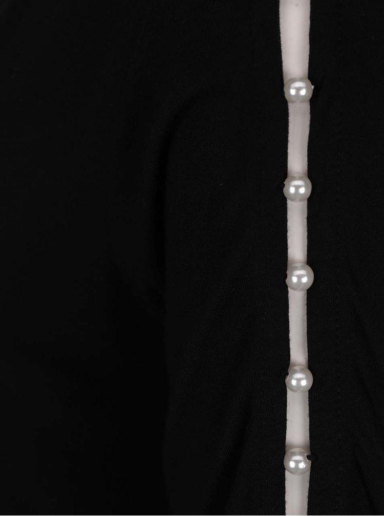 Tricou negru cu decupaj si margele Dorothy Perkins