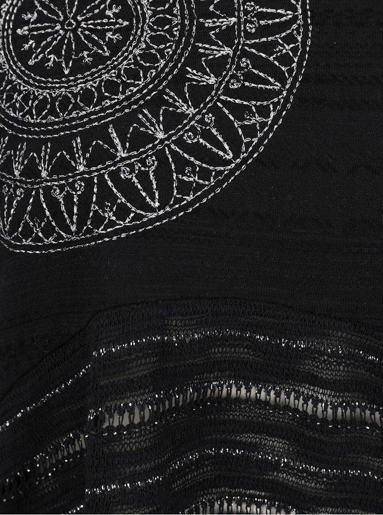 Bluza neagra ZOOT cu insertii argintii