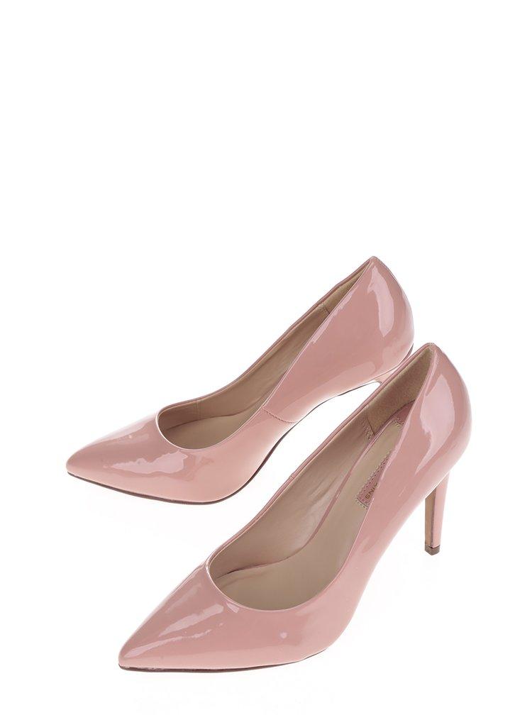 Pantofi lăcuiți roz prăfuit Dorothy Perkins cu toc stiletto