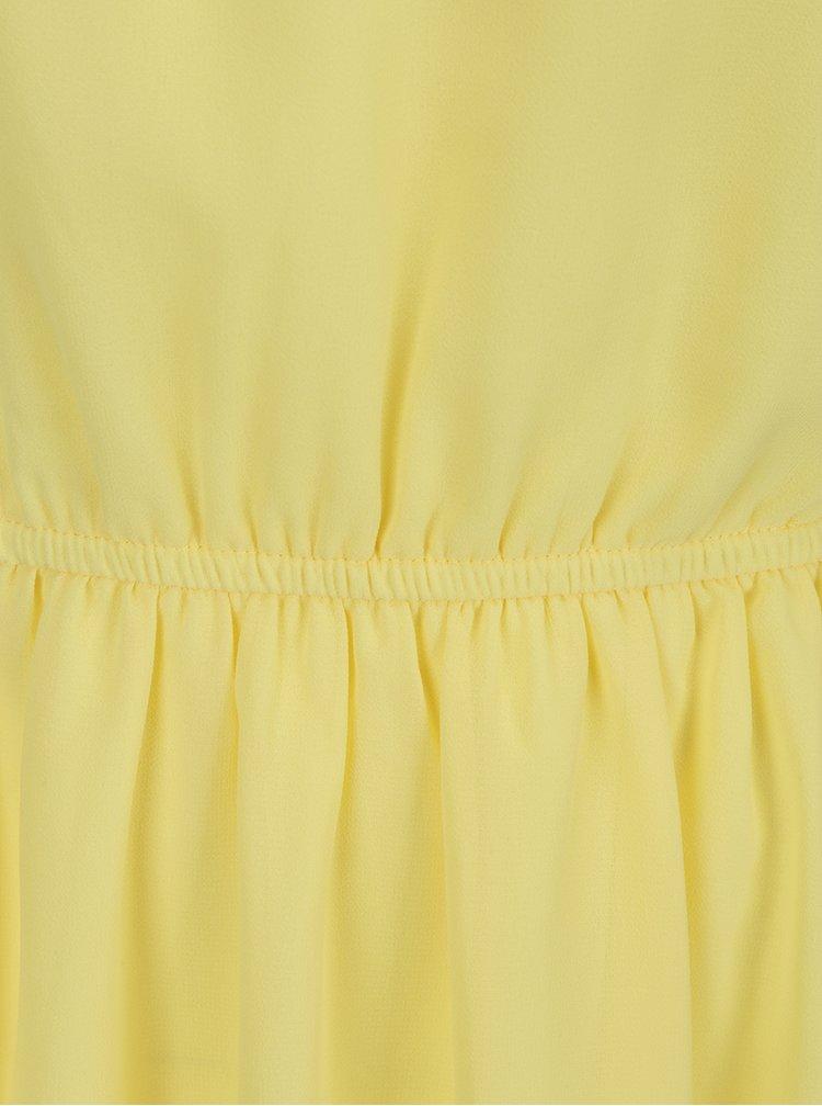 Žluté šaty s průstřihem Apricot
