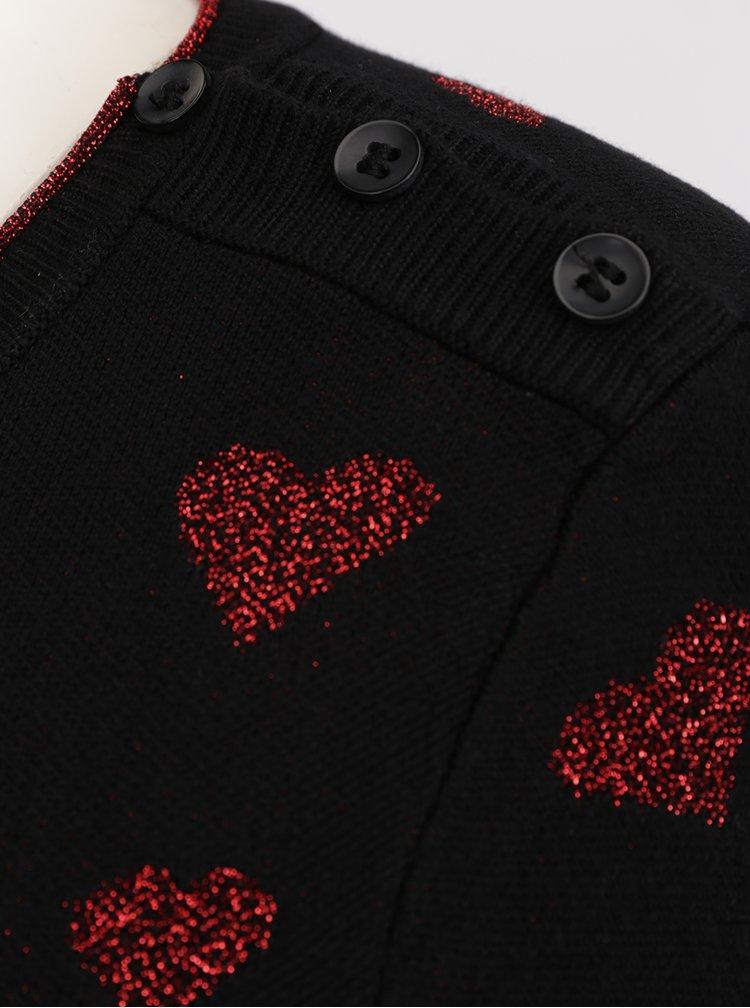 Pulover negru cu print roșu Desigual África