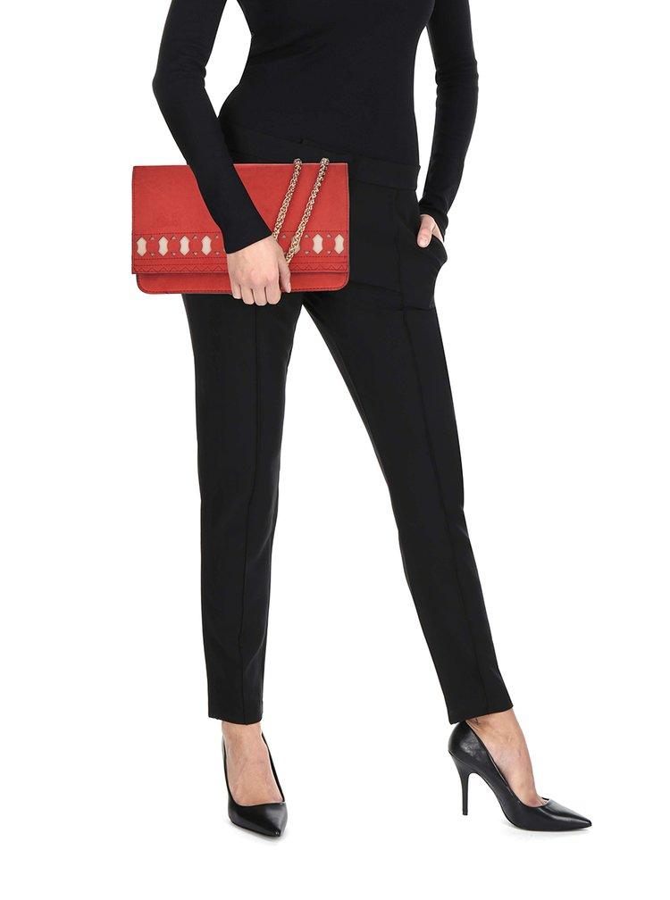 Červená crossbody kabelka v semišové úpravě Dorothy Perkins