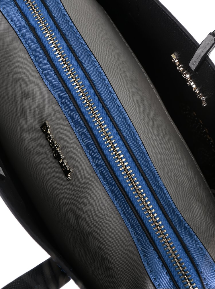 Černá/modrá oboustranná crossbody kabelka 3v1 Desigual Hamar Tricolor