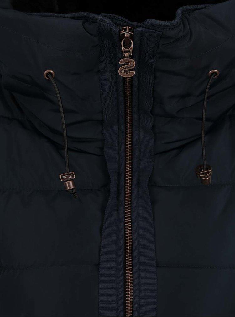 Tmavě modrá prošívaná vesta Desigual Salva