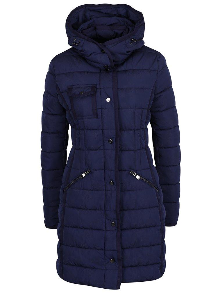 Tmavě modrý prošívaný kabát Desigual Pisa