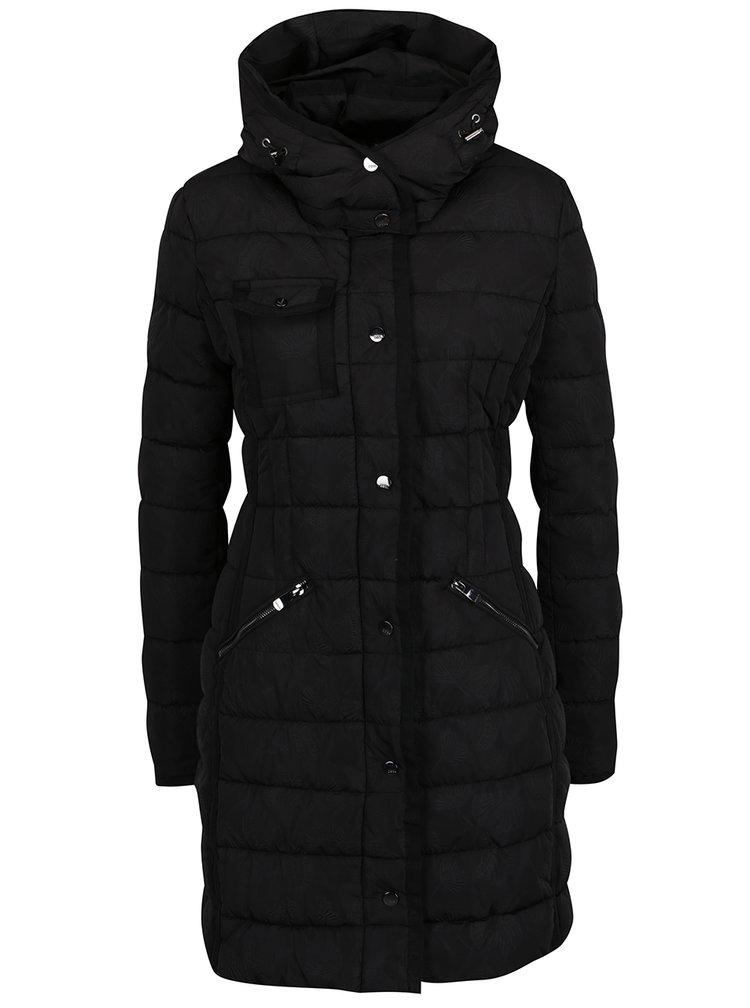 Černý prošívaný kabát Desigual Pisa