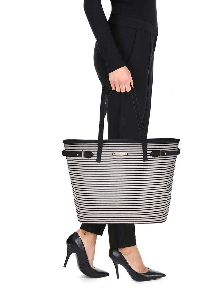 Geanta shopper cu dungi Dorothy Perkins