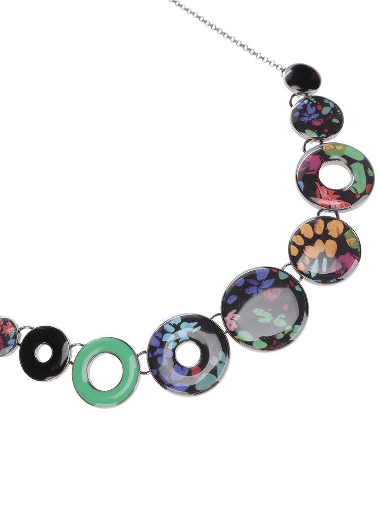 Colier multicolor cu cercuri Desigual Misha
