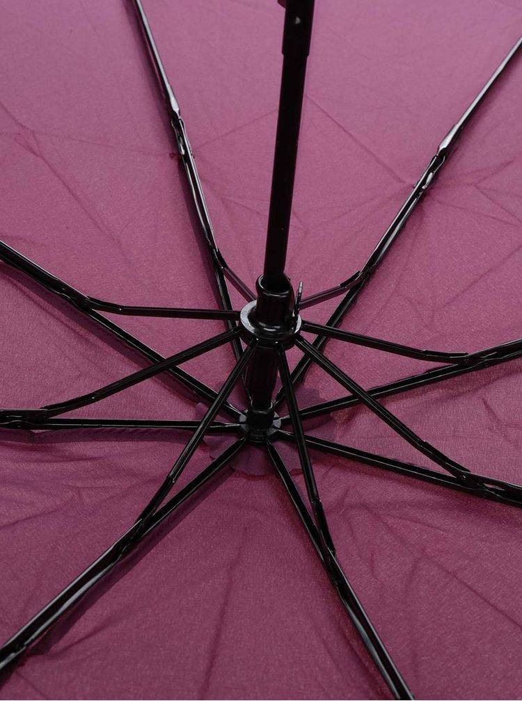 Vínový dámský skládací deštník s.Oliver