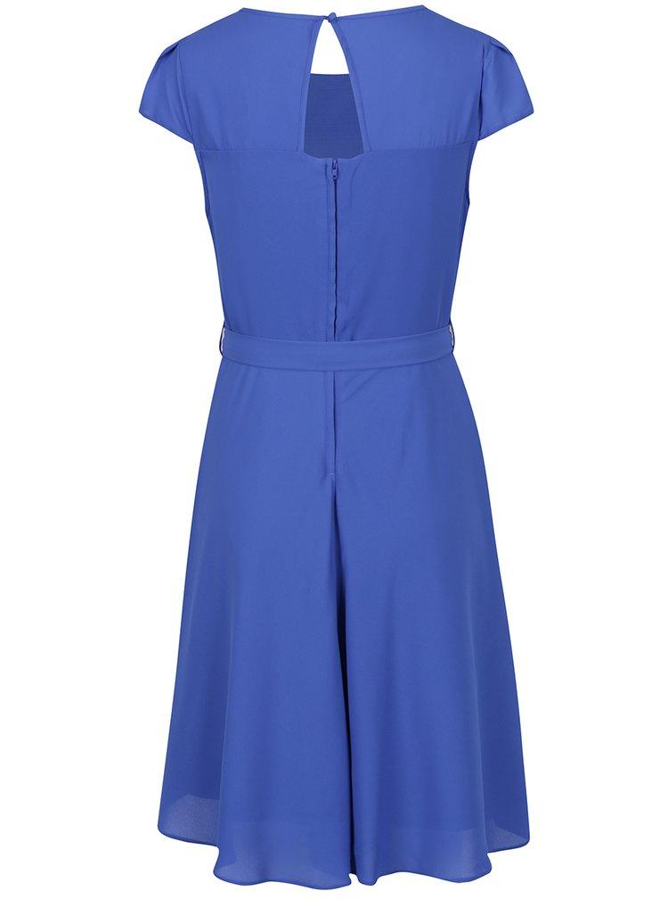 Modré šaty s páskem Billie & Blossom