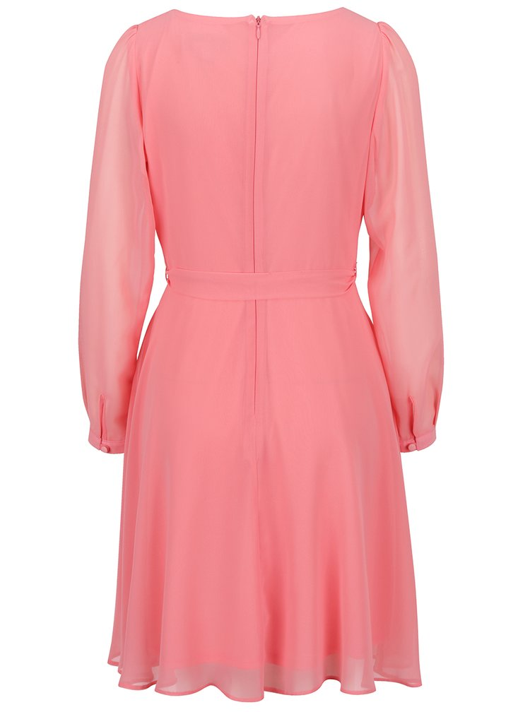 Rochie roz pudrat Billie & Blossom cordon în talie