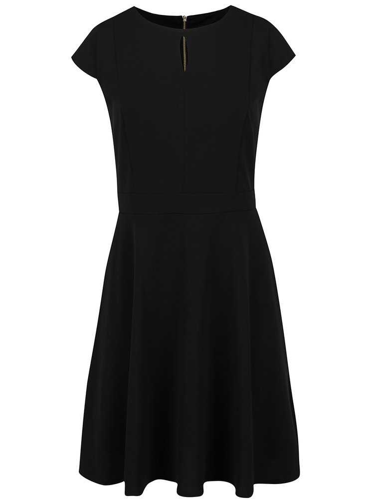 Rochie neagră Dorothy Perkins Curve detaliu fermoar auriu