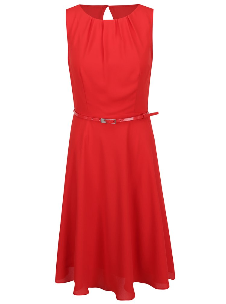 Červené šaty s páskem Billie & Blossom