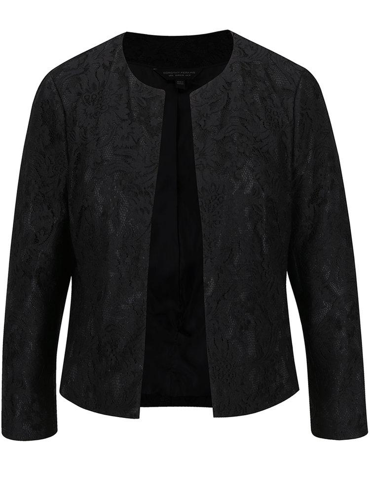 Černé krajkové sako Dorothy Perkins
