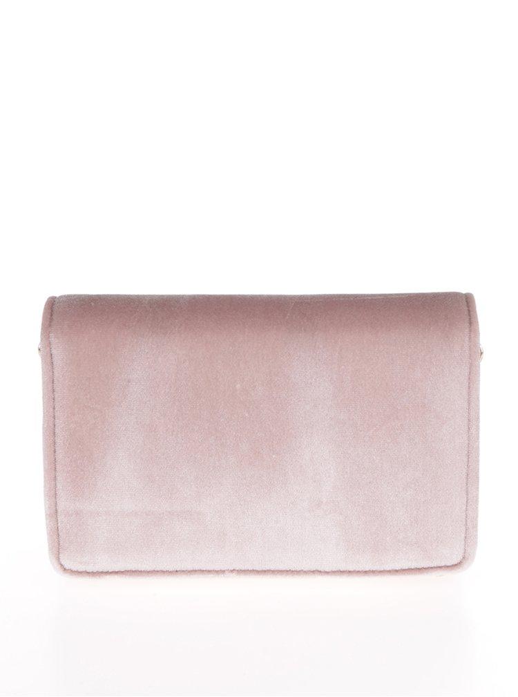 Růžová crossbody kabelka/psaníčko Miss Selfridge