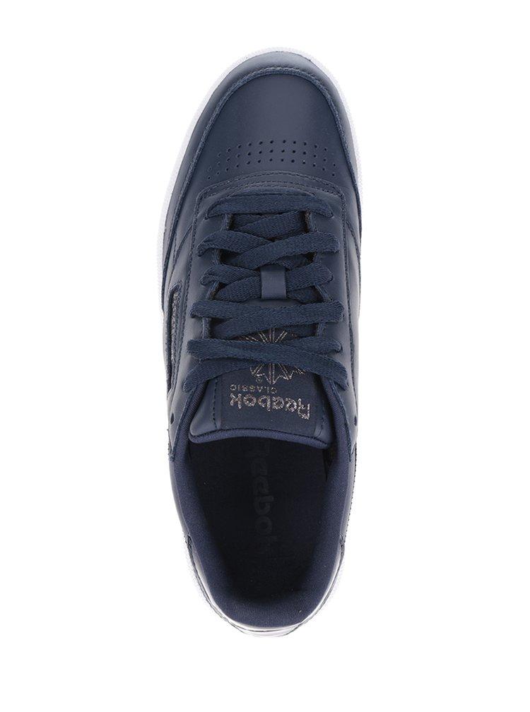 Tmavě modré dámské kožené tenisky Reebok