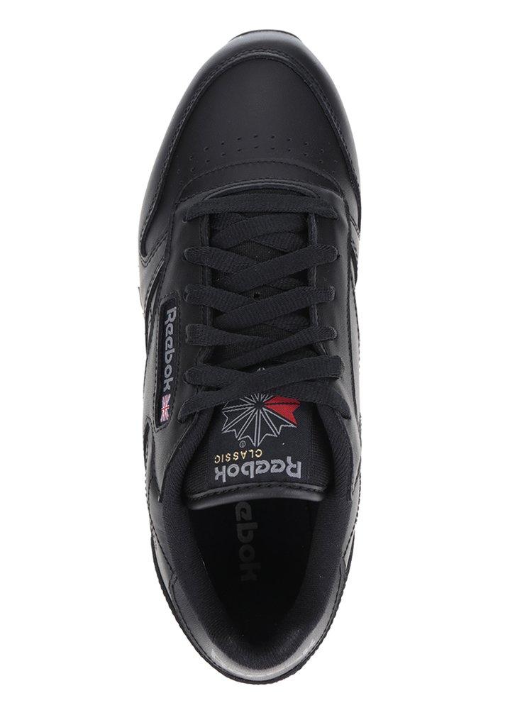 Pantofi sport negri din piele Reebok pentru femei