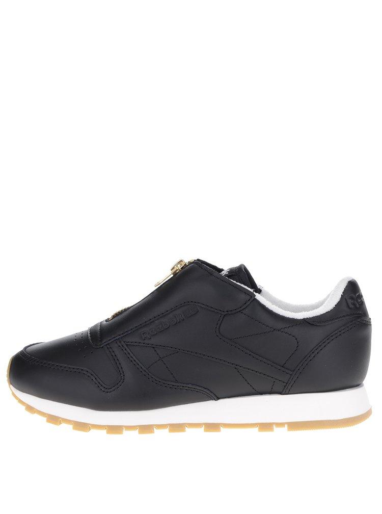 Pantofi sport negri cu fermoar Reebok pentru femei
